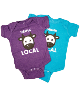 """Drink Local"" Baby Onesie"