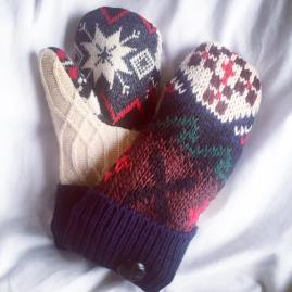 Women's Winter Lodge Potholder Mittens